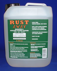 Rust Away Product Packaging Label
